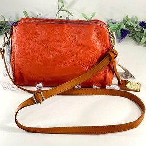 Valentina Coral Leather Made in Italian Crossbody